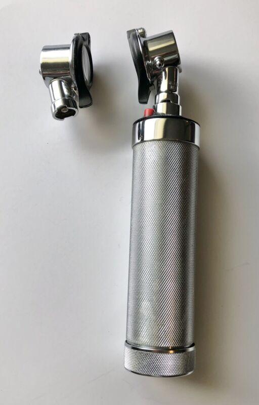 Pneumatic Otoscope WELCH ALLYN HEAD SKAN FALLS NY USA With Handle + Extra Head