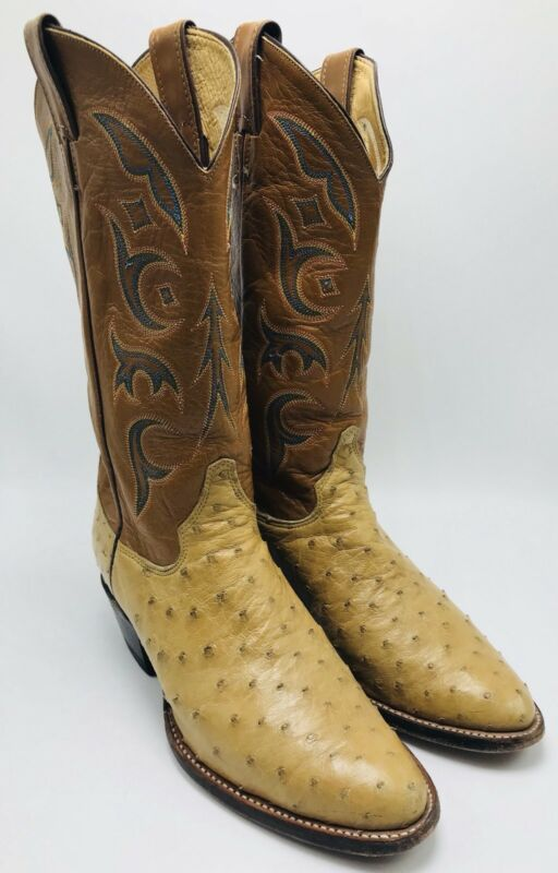 Mens, Justin, Full, Quill, Ostrich, Cowboy, Boots, 8931