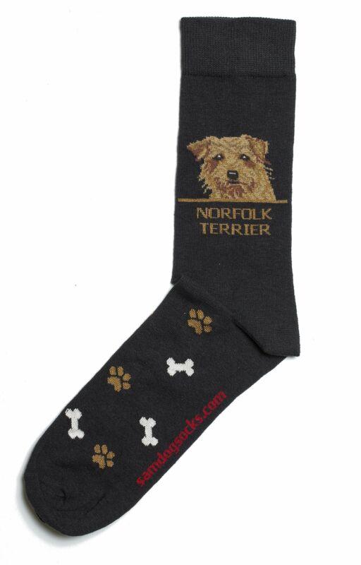Norfolk Terrier Dog Socks Mens