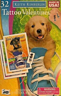 32 Cute Lil Pets Tattoo Valentines Boys & Girls School Class Room V-Day Cards - Cute Lil Tattoos