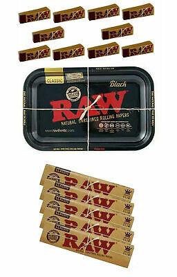 RAW Negro Bandeja Fumar Accesorios Regalo Equipo Papeles Plus Consejos