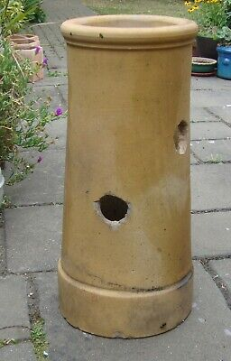 Stoneware chimney pot, 2 drilled holes 25