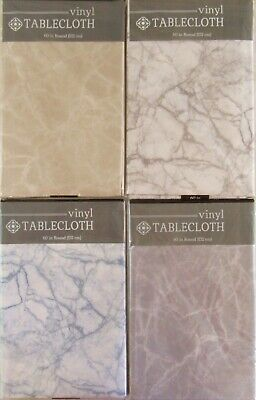 Classic Marble Pattern Vinyl Flannel Back Tablecloth Various colors and -