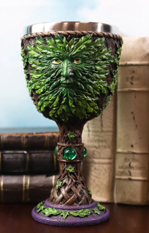 Ebros Large Celtic Tree Spirit Man Greenman Wine Goblet 8oz Cup
