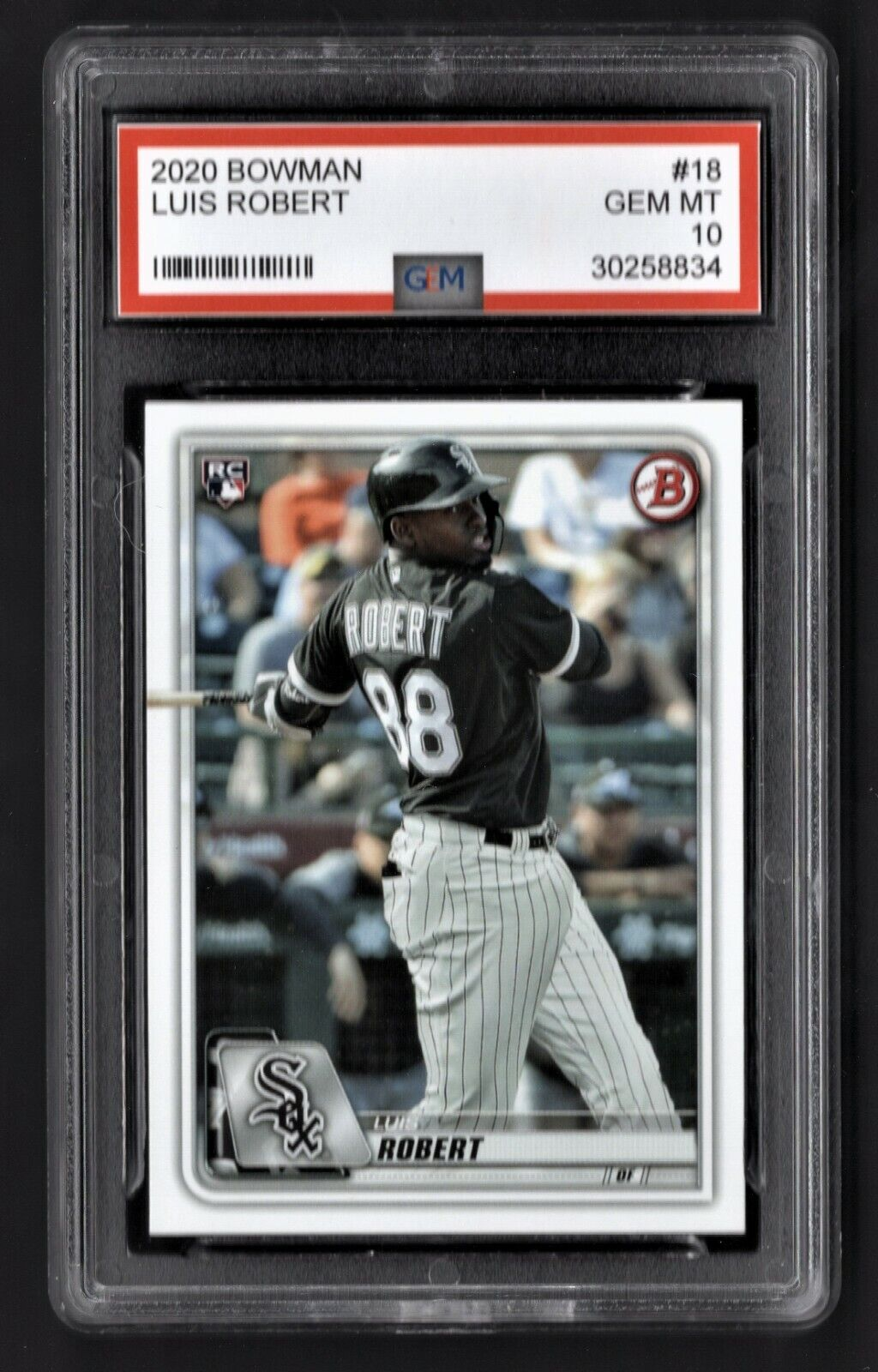 2020/20 Luis Robert Topps Bowman Draft Rookie Graded 10 Chicago White Sox Card