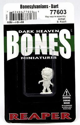 Reaper 77603 Bones Bonesylvanians Bart Zombie Chibi Monster Undead Halloween NIB](Halloween Bones Game)