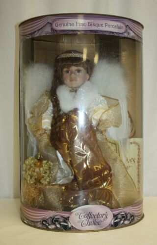 Angel Porcelain Doll Collector's Choice with Stand Box and COA
