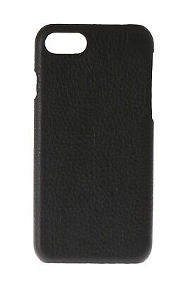 NEW $120 DOLCE & GABBANA Phone Case Black Soft Leather Cover Logo iPhone7