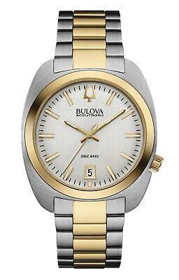 Bulova Accutron II Men's UHF Quartz Grey Dial Gold Tone 40mm Watch 98B272