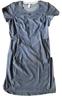 LULULEMON & Go Endeavor Dress Heathered Texture Printed Grey Deep Coal sz 4 EUC