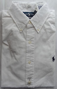 NWT New Polo Ralph Lauren Solid Buttondown Logo Shirt Asst. Colors S M L XL XXL