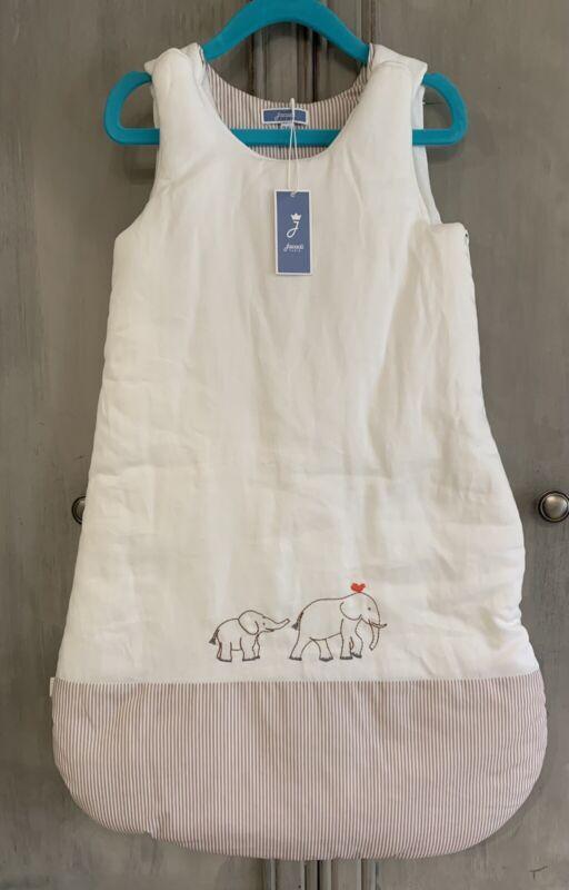 NWT Jacadi Paris Infant Baby Boy Elephants Blanket Sleeper Bag 0-6 Months