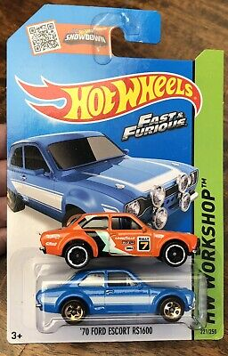 Hot Wheels x 2 '70 Ford Escort RS1600 Lot Blue Fast & Furious & Orange 2015/20
