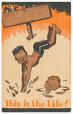 """""""This is the Life!"""" Boy Scouts of America Camp Postcard 1947"""