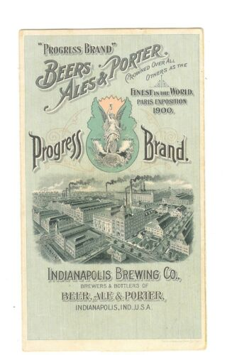X-TRADE CARD Metamorphic-PROGRESS BRAND-BEERS-ALES&PORTER-INDIANAPOLIS,IN-TC-024