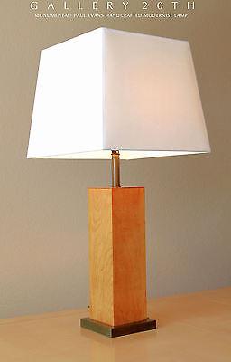 RARE! MID CENTURY MODERN PAUL EVANS LAMP! GIBBINGS TABLE VTG STIFFEL WOOD 1950'S