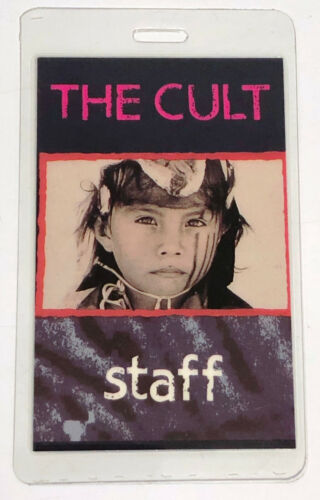 THE CULT 1991 Ceremonial Stomp Tour Laminated Staff Pass