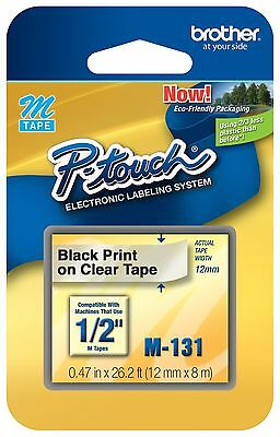 Brother M131 P-touch Tape Mk-131 Fits Pt-80 Pt-85 Pt-90 Pt-70 Pt-65 Pt-100