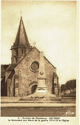 CPA -Carte postale-  CHERBOURG - Les Pieux- Son Eglise(iv 477)