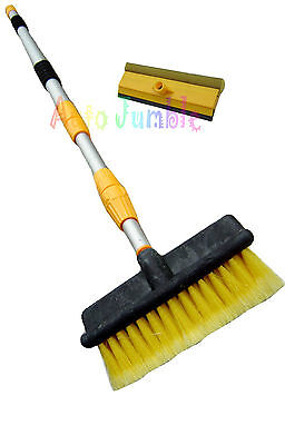 3M extending water telescopic Cleaning Brush hose fed pole + window squeegee