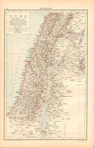 1893 ANTIQUE MAP - PALESTINE