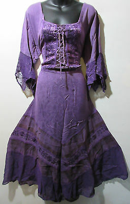 Kleid XL 1X 2X Plus Renaissance Lila Sexy - Sexy Renaissance Kleider
