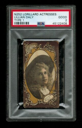 PSA 2 LILLIAN DALY N252 1880 Tobacco Cigarette Card THE ONLY ONE EVER GRADED