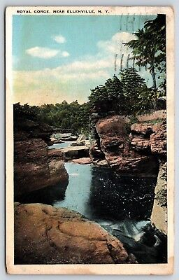 For sale The Royal Gorge near Ellenville, New York Early White Border Postcard