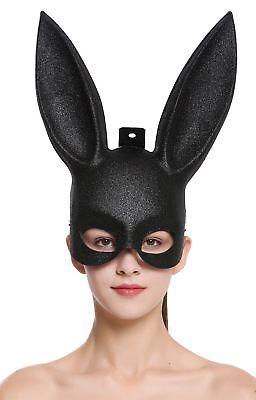Halloween Karneval Maske Halbmaske Augenmaske schwarz Black Bunny Hase Häschen