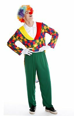 Kostüm Herren Männer Alleinunterhalter Karneval Clown Harlekin Narr S/M - Clown Narr Kostüm