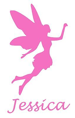 Personalised Name/Fairy Wall Art, Girls/Kids Bedroom,Custom Vinyl Sticker