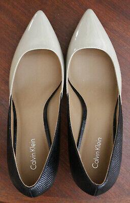 Calvin Klein Women's Size 8.5 Black/Tan Pump Shoes NWOT