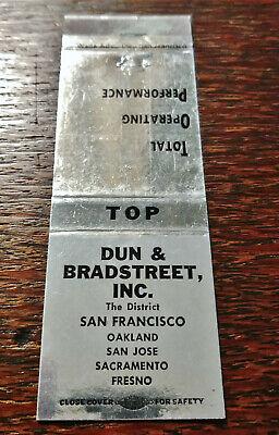 Vintage Matchcover: Dun & Bradstreet, The District, San Francisco, CA 16