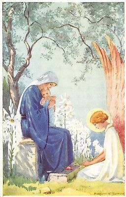 POSTCARD    RELIGIOUS   Christ was born  among  the  Lilies   Margaret  Tarrant