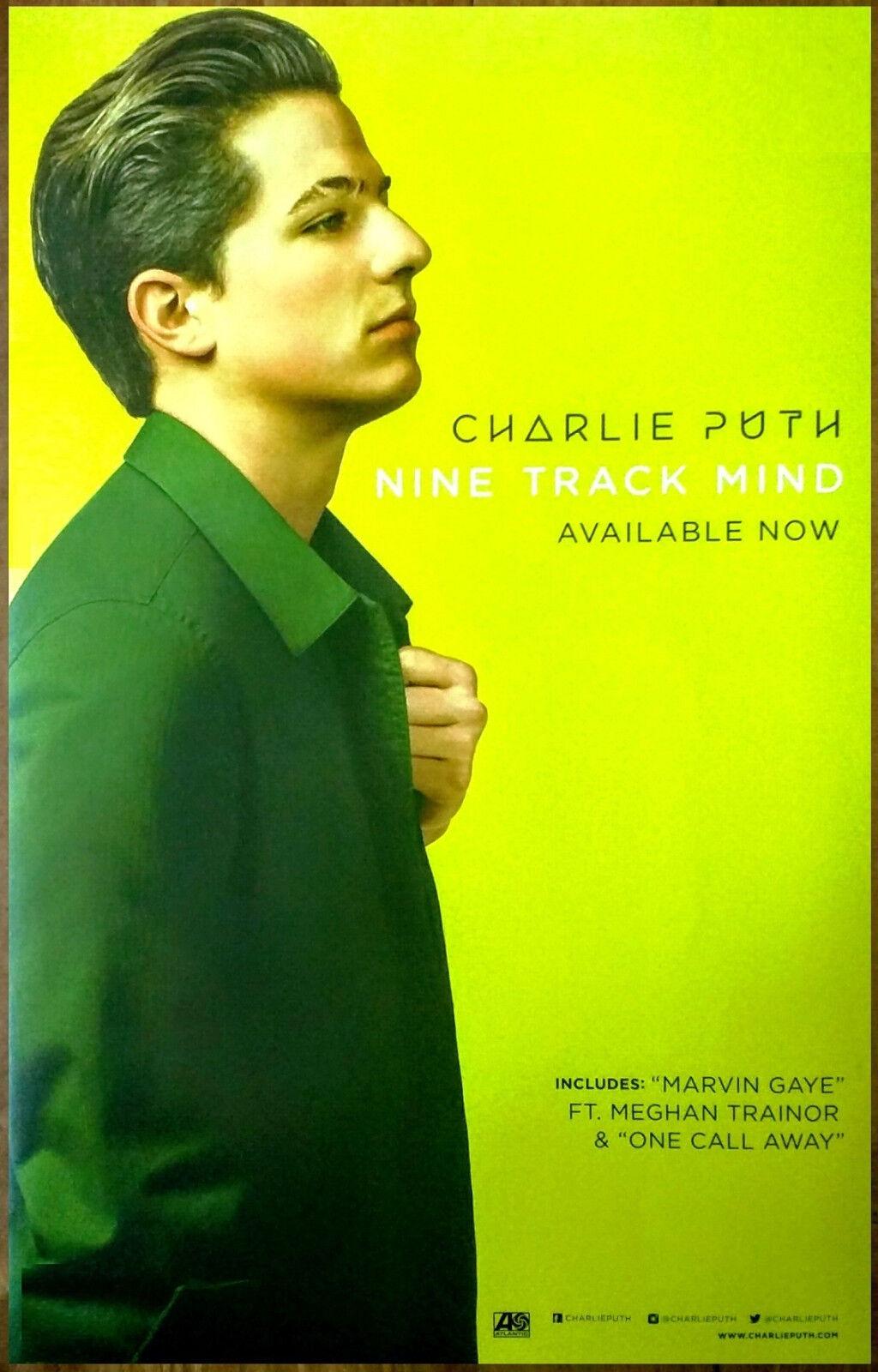 Charlie puth nine track mind 2016 ltd ed rare new poster +free pop r&b poster!