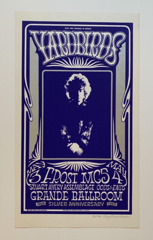 Yardbirds And MC5 At The Grande Ballroom Original Concert Poster