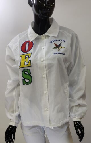 Order of the Eastern Star OES Line Jacket-White-Size 4XL-New!
