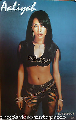 Aaliyah 23x35 Denim Memorial Poster 2001