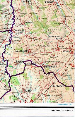 Colnrade Bockstedt Aldorf Mörsen 1962 Teilkarte Beckeln Altenmarkhorst Natensted