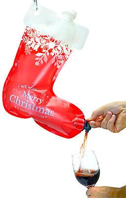 Festive Stocking Wine Dispenser Flask/Bag 2.0 Funny Hangover Holiday Gag Gift Holiday & Seasonal Décor