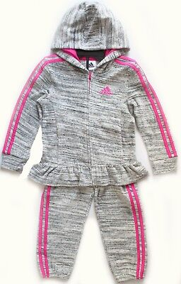 NEW Adidas Kids Girls 2 Piece Set Track Suit Pants And Full Zip Hoodie Varierty