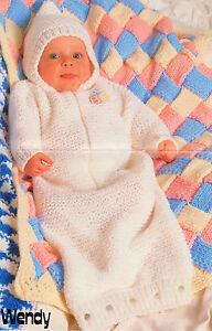 Chunky-Wool-Entrelac-Baby-Blanket-Sleeping-Sack-16-18-Knitting-Pattern