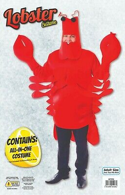 Lobster Sea Animal Fancy Dress Stag Night Party Monster Crab Costume UK Unisex](Sea Monster Halloween Costumes)