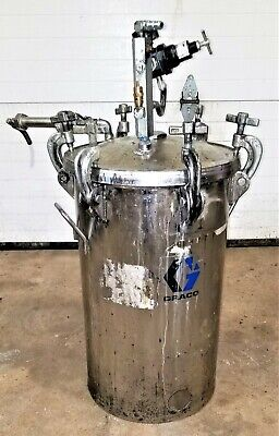 10 Gallon Graco Stainless Steel Regulated Pressure Paint Pot Tank 8