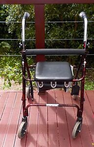 DISABILITY WALKER WITH SEAT ELDERLY ROLLATOR DISABLED WALKING Aldgate Adelaide Hills Preview