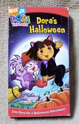 DORA THE EXPLORER Dora's Halloween VHS Video Tape 2004 Nick Jr. Nickelodeon - Nick Halloween Promo