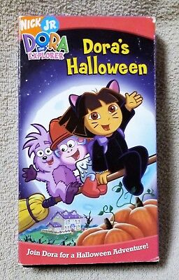 DORA THE EXPLORER Dora's Halloween VHS Video Tape 2004 Nick Jr. Nickelodeon VGC - Dora's Halloween Vhs