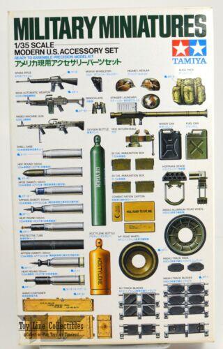 Military Miniatures 1/35 Scale Modern U.S. Accessory Model Kit Tamiya 1988