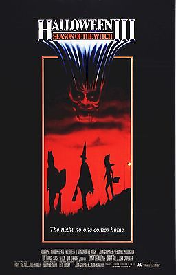 Three Witches Halloween Movie (HALLOWEEN III 3 Season of the Witch Movie Poster Horror Silver)