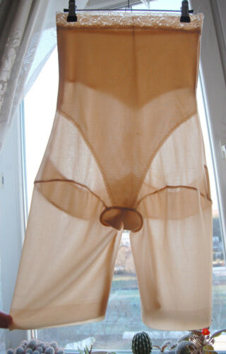 NUDE SHEER CORSET BODY GIRDLE PANTIES PANTALOONS XL